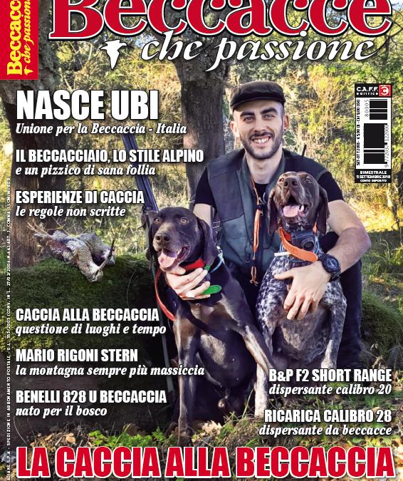 Beccacce che Passione n° 5 2018, in edicola dal 5 settembre